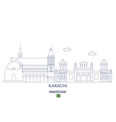 Karachi city skyline vector