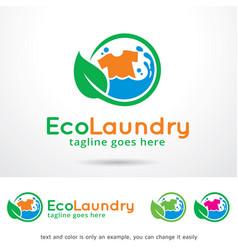 Laundry logo template vector