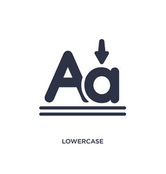 Lowercase icon on white background simple element vector