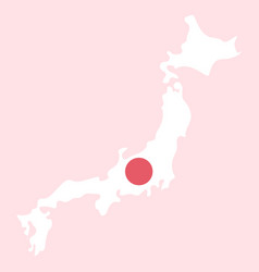 map of japan in high resolution detailed vector image