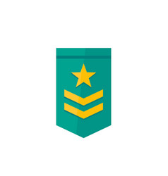 Military rank icon two stripes and star vector