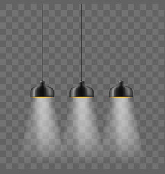 Modern black metallic lamp-shade electric vector