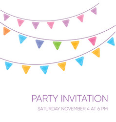 modern party invitation card vector image