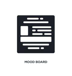 Mood board isolated icon simple element from vector
