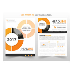 Orange abstract circle annual report brochure vector