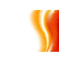 Orange sunburst background template vector image