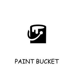 Paint bucket flat icon vector