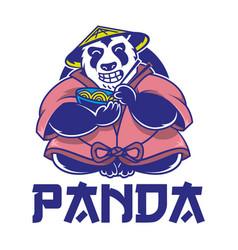 panda logo vector image