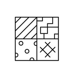 Piece quilt patchwork square ceramic tile vector