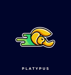 Platypus template vector