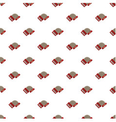 red accordion pattern vector image