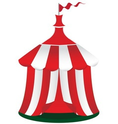 Red circus tent icon vector