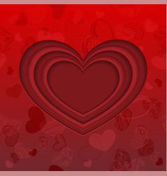 red cut paper heart wallpaper vector image