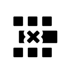 Remove row icon vector