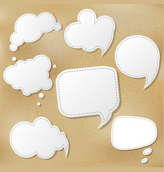 Retro speech bubble set vector
