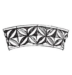Romanesque motive periods vintage engraving vector