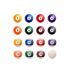 Set billiard ball vector