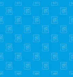 Smoking chips pattern seamless blue vector