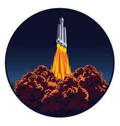 spaceship launch vector image