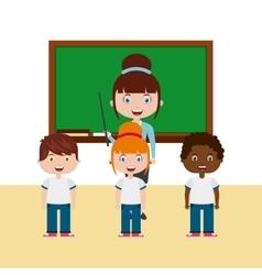 teacher classroom design vector image