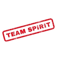 Team Spirit Rubber Stamp vector image