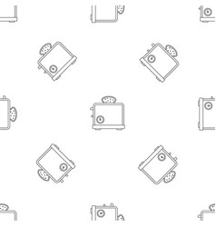 timer toaster pattern seamless vector image