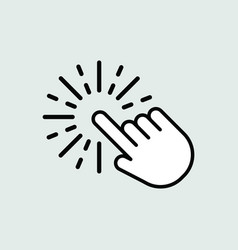 Touch icon isolated for graphic and web design vector