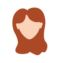 Woman head and face with hairstyle vector