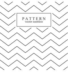 zigzag seamless minimalistic pattern vector image