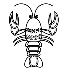 zodiac cancer sign symbol crab or crawfish vector image