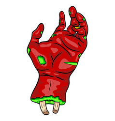 Zombie hand symbol icon design beautiful isolated vector