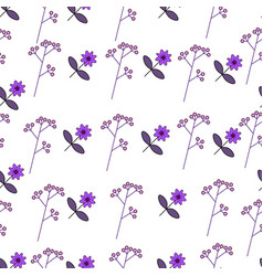 flower pattern with cute flowers vector image vector image