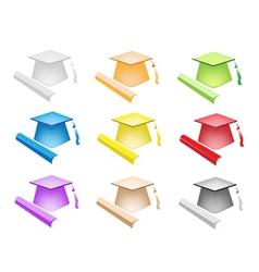 Set of Diploma and Graduation vector image