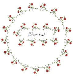 Spring flowers frames vector image vector image
