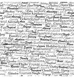 Aviatravel related concept newspaper seamless vector image