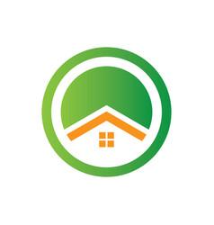 circle home business logo vector image