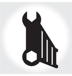 Key tool icon black silhouette Element logo vector image