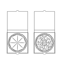Pizza in a Box Design Element Isolated On White vector image