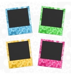 Set of flowers photo frames vector image vector image
