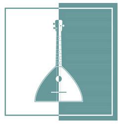 silhouette of balalaika vector image