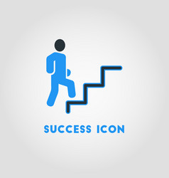 Simple business icon of career path career vector