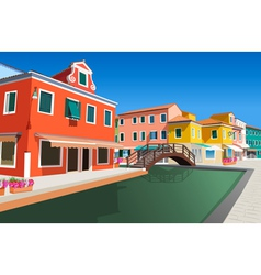 Small street in Venice vector image