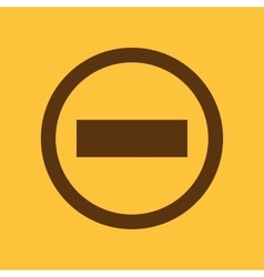 The stop icon Danger and warning symbol Flat vector image