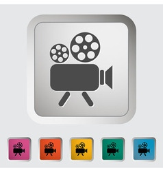 Video cam vector image vector image