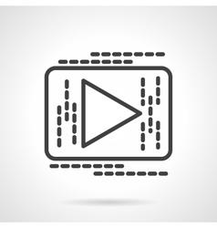 Black line button play icon vector image vector image