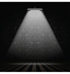 Interior with spotlight vector image
