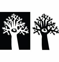 tree and eye vector image vector image