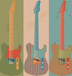 Vintage electric guitars vector image