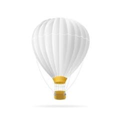 white hot air ballon isolated vector image vector image