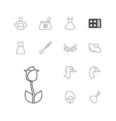 13 beautiful icons vector